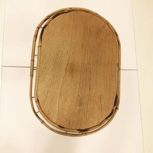 Vintage Accents - Vintage Boho Bamboo Serving Tray